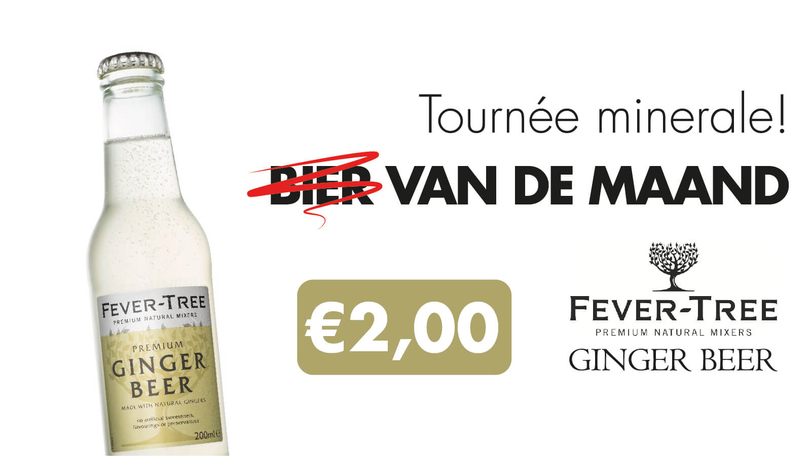 'Bier' van de Maand: Fever-Tree Ginger Beer